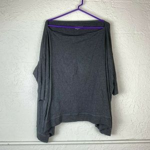 Beyond Yoga Shirt M Gray Oversized Dolman Sleeve